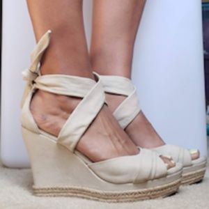 UGG shoes   Ugg Lucy Nude Platform Wedge Sandals
